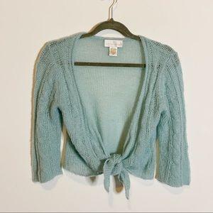 Soft Surroundings Loose Knit Crop Cardigan CD1